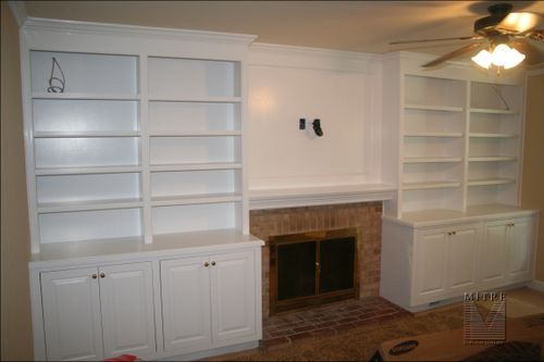 Birch Plywood Built-In Cabinetry