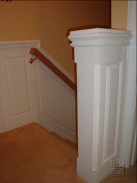 Upper hallway 1/2 wall wainscoting