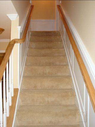 Raised Panel Wainscoting in stairway