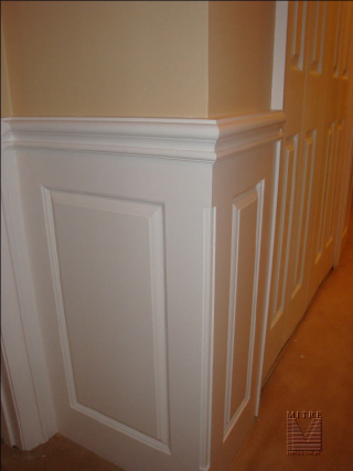 Raised Panel Wainscot, showing beaded outside corner detail