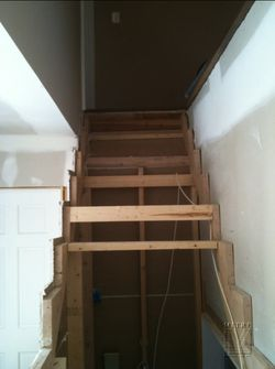 Previous contractors horrendous attempt at stairbuilding