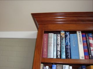 Cherry Built-Ins, upper cabinet, closeup of mouldings, beading details