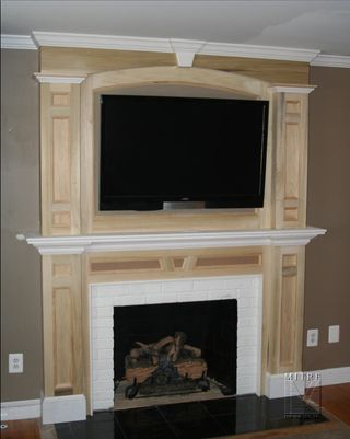 Mantel with Overmantel - after installation