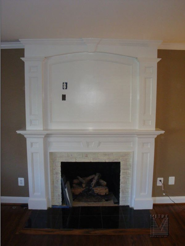 Mantel With Overmantel Mitre Contracting Inc