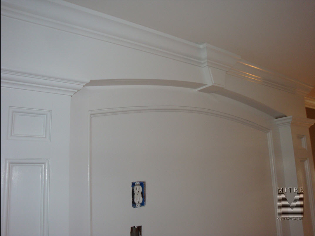 Fireplace Overmantel Arch Surround closeup
