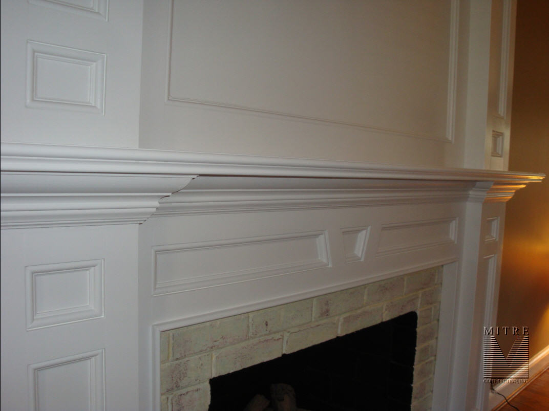 Fireplace Mantel closeup