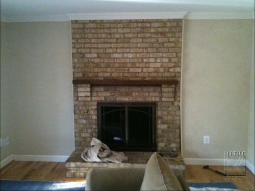 Built In Cabinetry Around A Fireplace Mitre Contracting