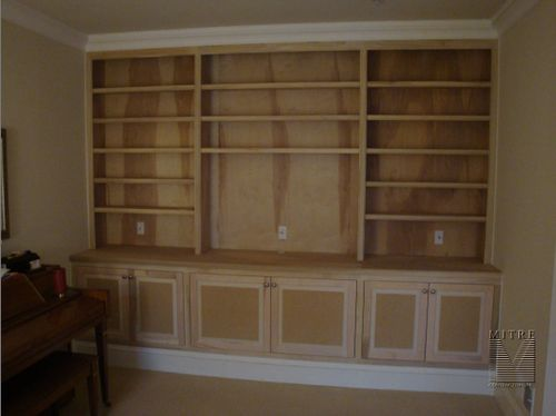 Built-Ins for large flat screen TV - Unpainted