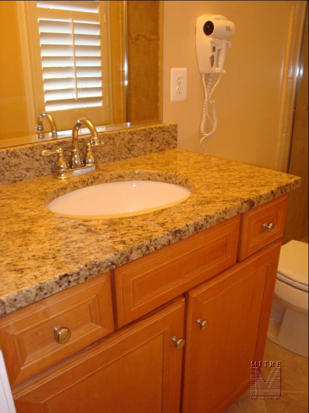 Bathroom Renovation After Picture of Granite & Vanity