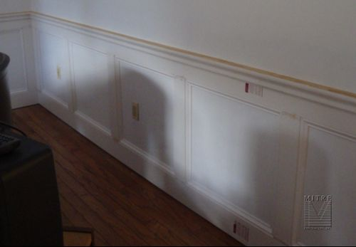 Wainscoting - after the panel mouldings and the chair rail & cap mouldings