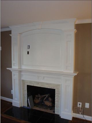 Fireplace mantel and overmantel