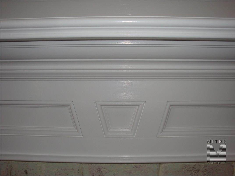 Fireplace Mantel Breastplate closeup