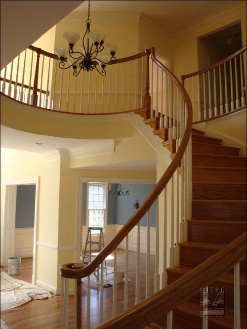 Curved Railings & Wainscot
