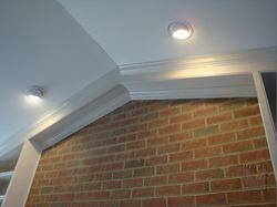 Close=up of crown and soffit feature