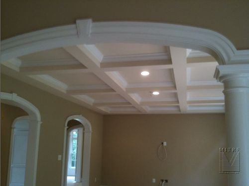 Coffered Ceiling and custom archways