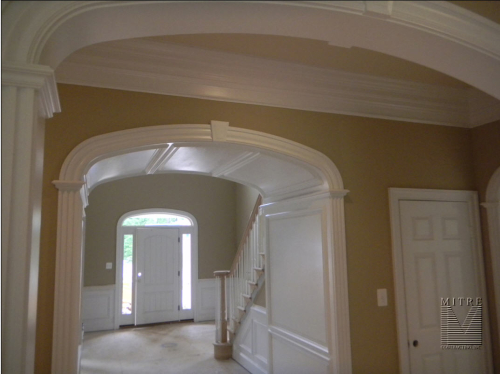 Arched Opening with raised paneled jambs
