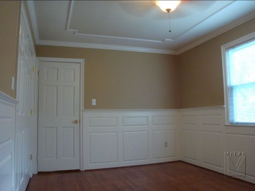 Ceiling Moulding and Raised Panel Wainscot