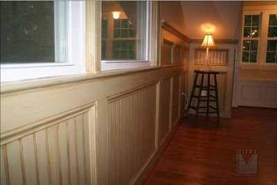 "48"" Tall Double Paneled Beadboard Wainscot"