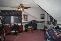 Room before renovation with wainscoting