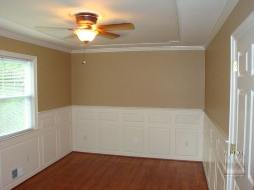 Raised Panel Wainscoting with double raised panels