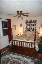 Bedroom before renovation and wainscoting