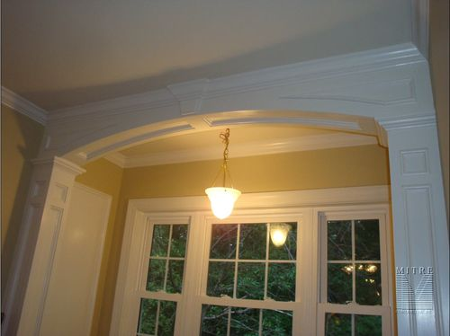 Groovy Window Seat Archway Columns Wainscoting Mitre Gmtry Best Dining Table And Chair Ideas Images Gmtryco