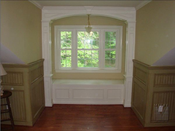 Window Seat Archway Columns Wainscoting Mitre