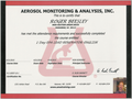 EPA Certified Lead Renovator Certificate for Roger Beesley