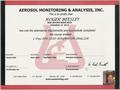 EPA Certified Lead Renovator Certificate for Roger Beesley