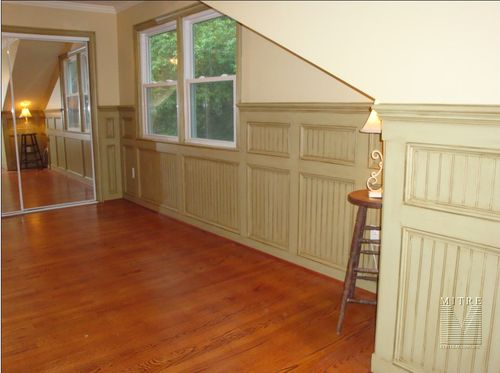 Paneled Beadboard Wainscot with double panels