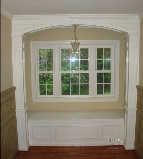 Window Seat Archway Built-In Cabinetry