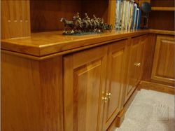 Cherry Built-Ins - countertop edgings with beaded profile