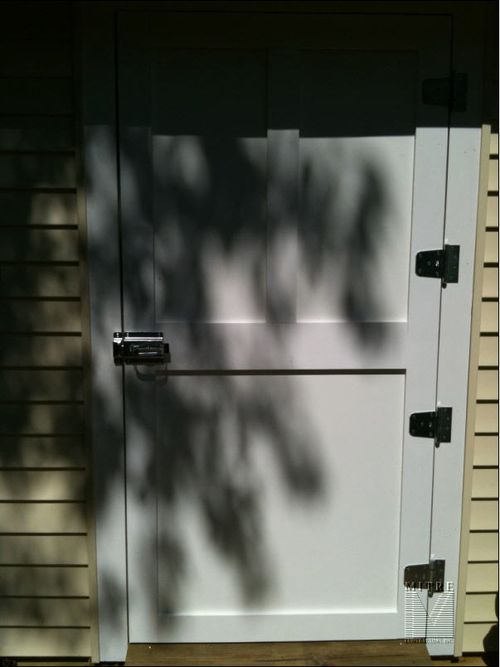 Garden Shed - Poly Board Door with metal frame