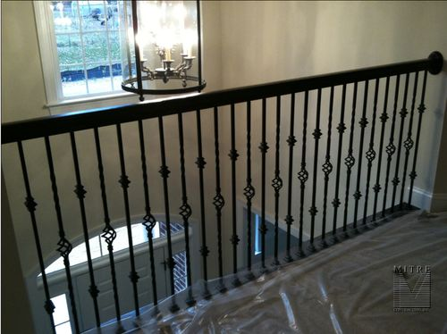 Overlook section of  railings with metal balusters