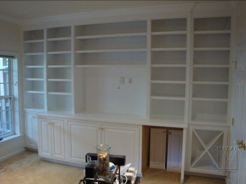 Built-In Cabinetry with wine storage and flat screen space