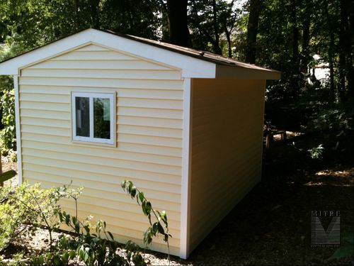 Garden Shed Back side view