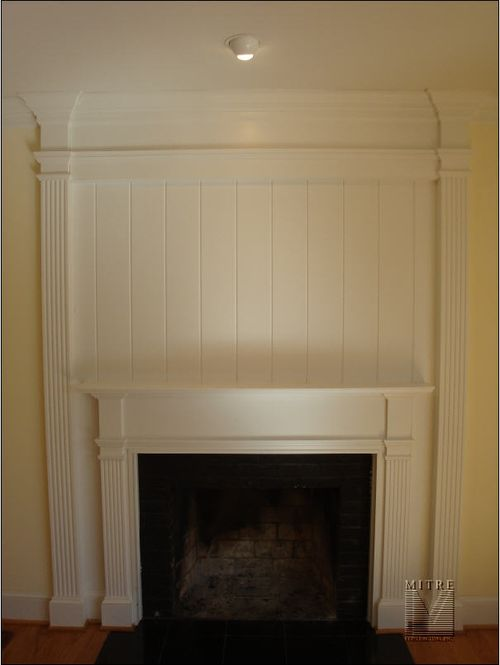 Fireplace Mantel and Surround Feature