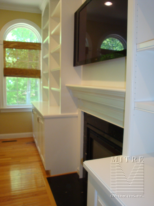 Built-In cabinetry -Left side view