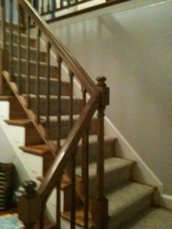 Foyer stairway before renovation 1