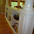 1/2 Wall Built-in Bookcase with Columns