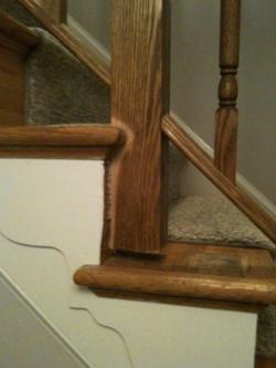 Foyer stairway before renovation 2