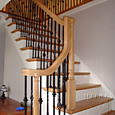 Oak Railings with Iron Balusters