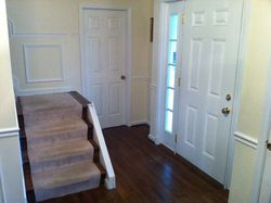Old boxed stairs with railing removed
