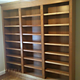 Cherry Wood Bookcase Built-In