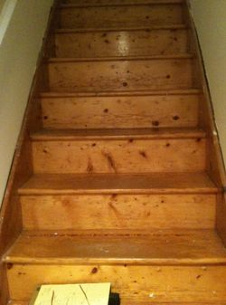 stair treads before replacement