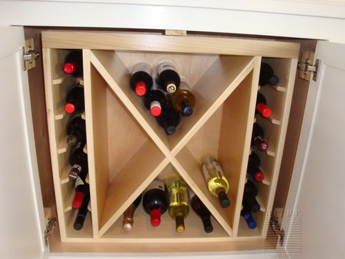 Wine Bottle Racking for Built-In Cabinetry