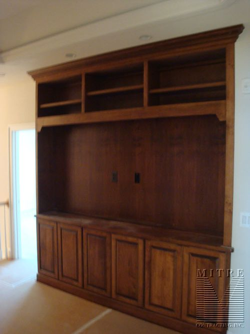 Built-In Cabinetry for flat screen TV
