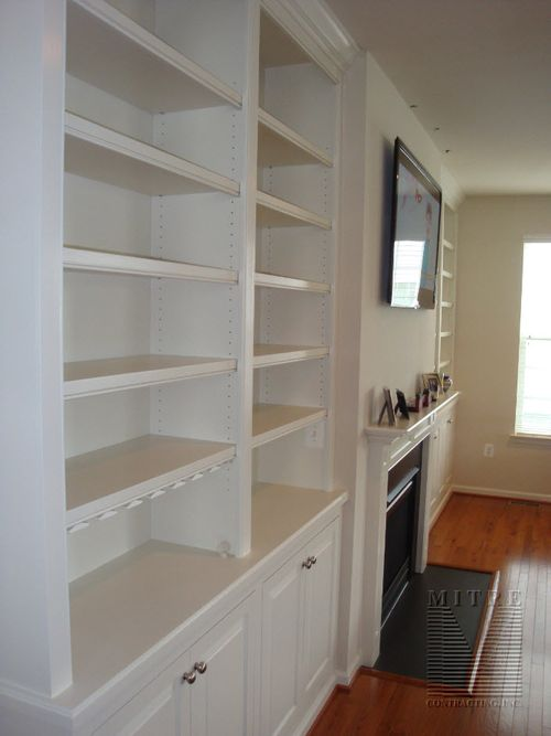 Paint Grade Built-In Cabinets with wine racks