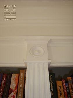 Built-In Cabinetry- Rosette Detail on the Pilaster Stile