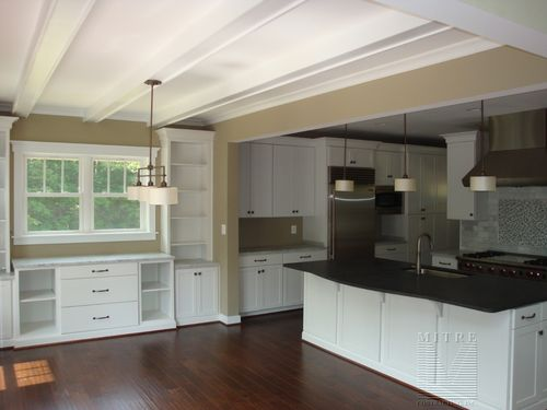 Beamed Ceiling, Built-Ins, Kitchen Installation